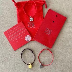 NEW! TWO UNO de 50 Unisex Adjustable Bracelets.